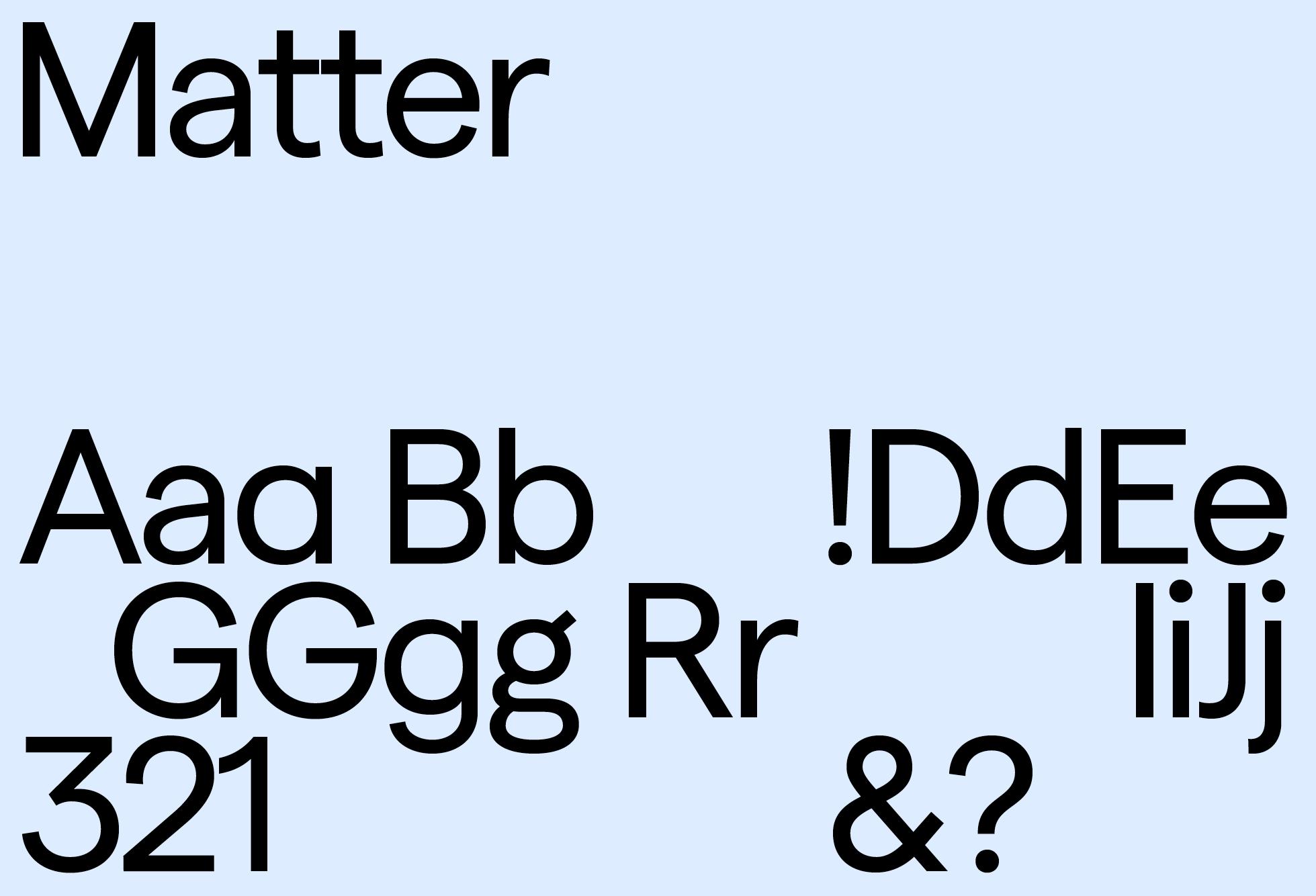 Matter Regular