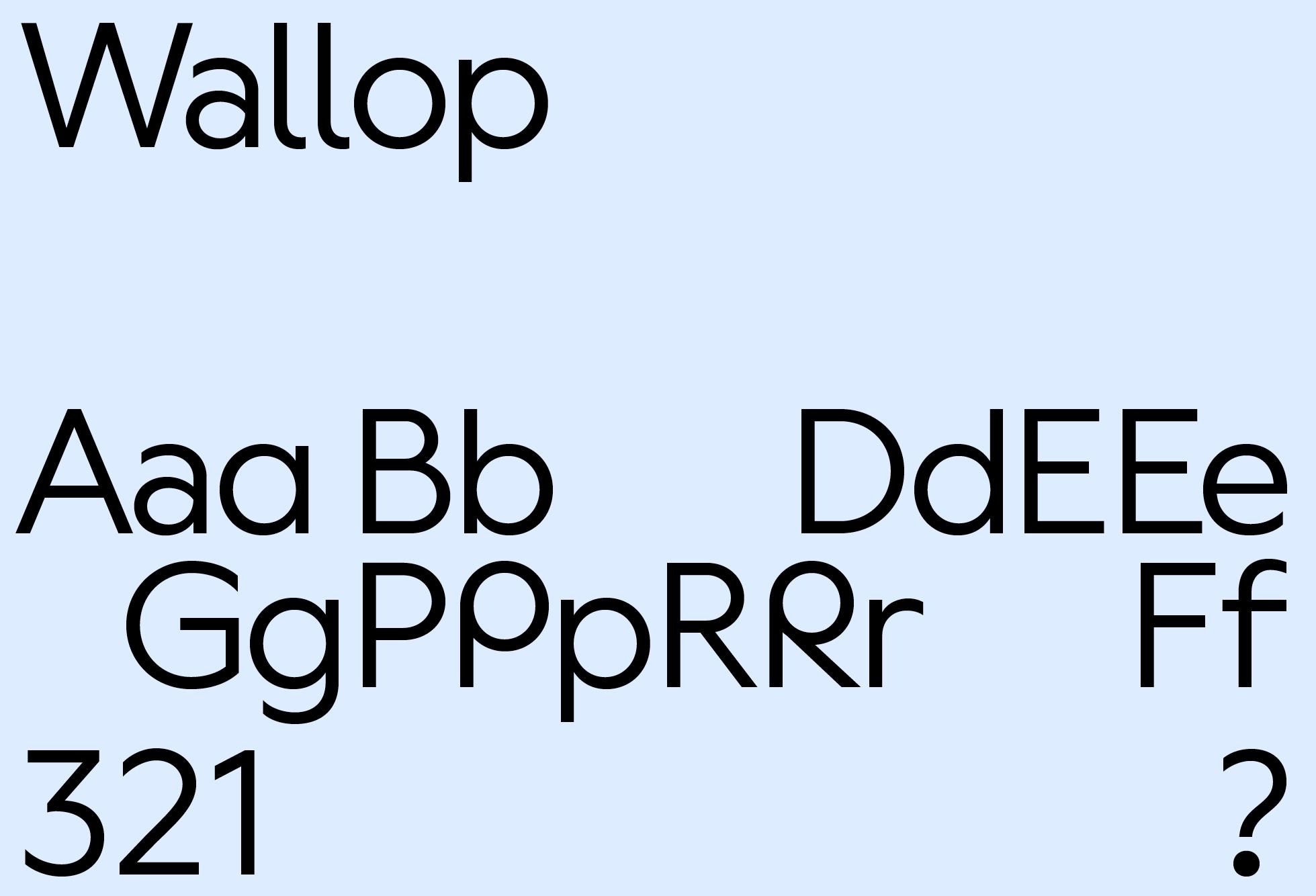 Wallop Medium (selected glyphs)