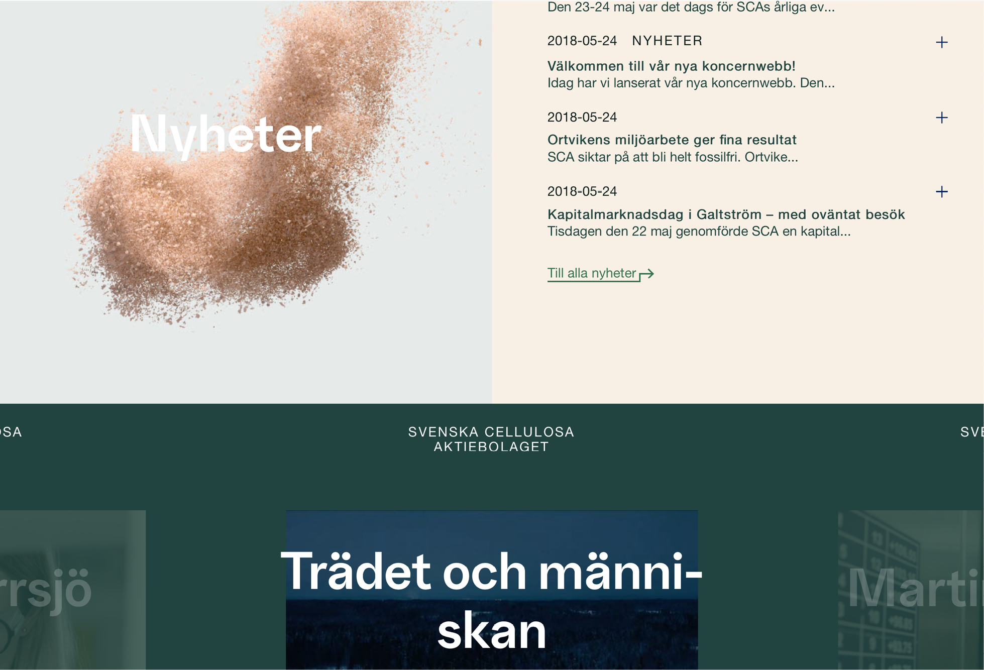 Fonts in use, design by Bold Scandinavia