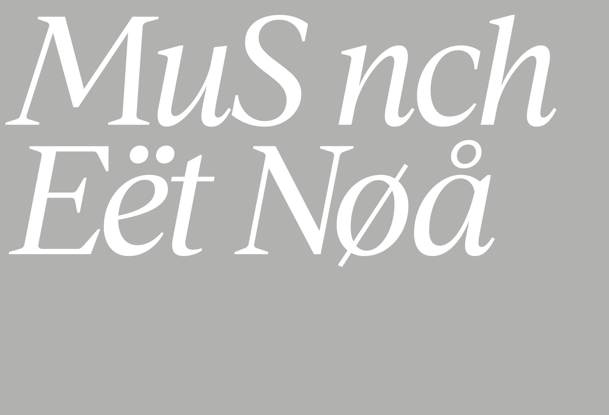 Museet Sans & Museet Serif