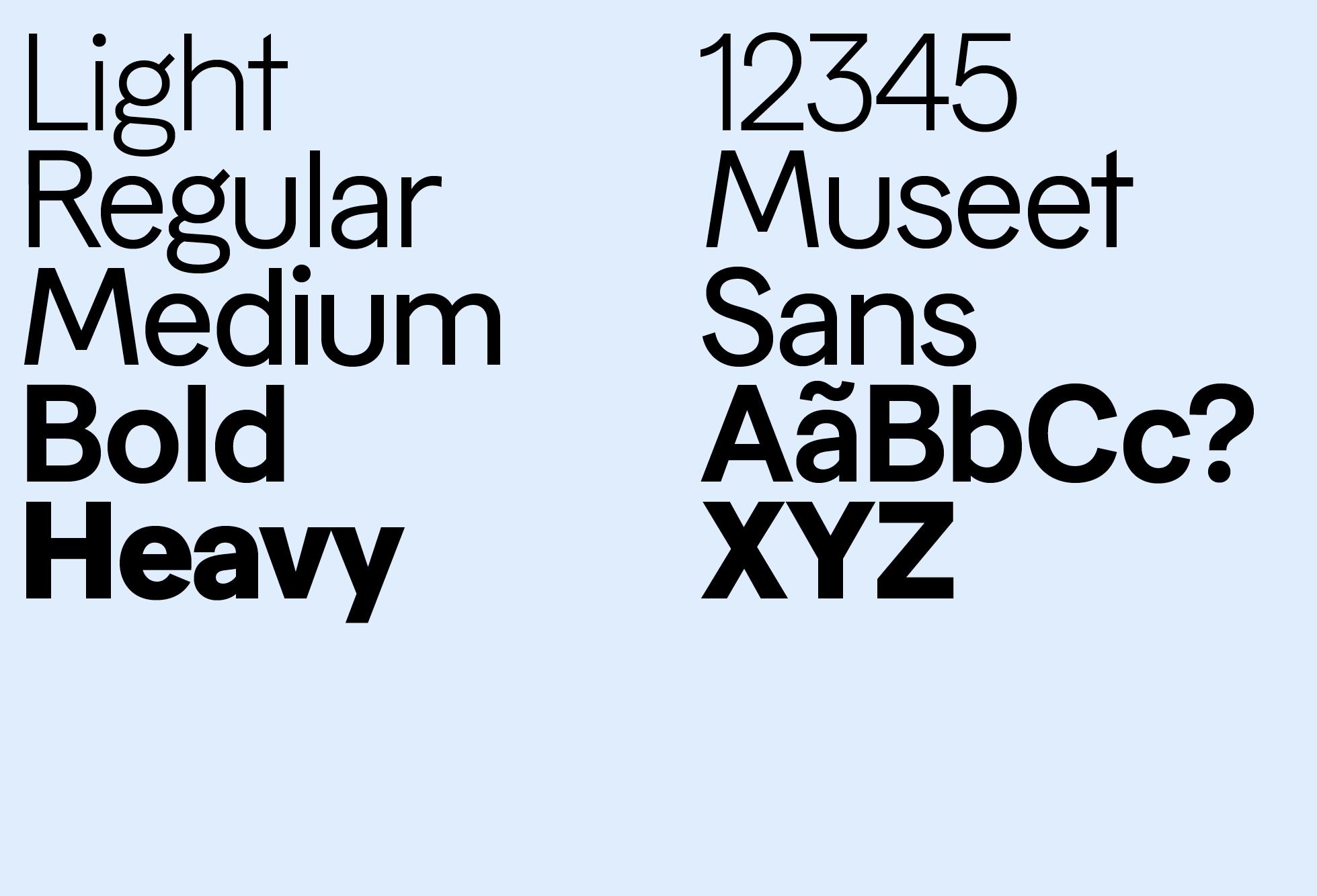 Museet Sans (Weights & Styles)