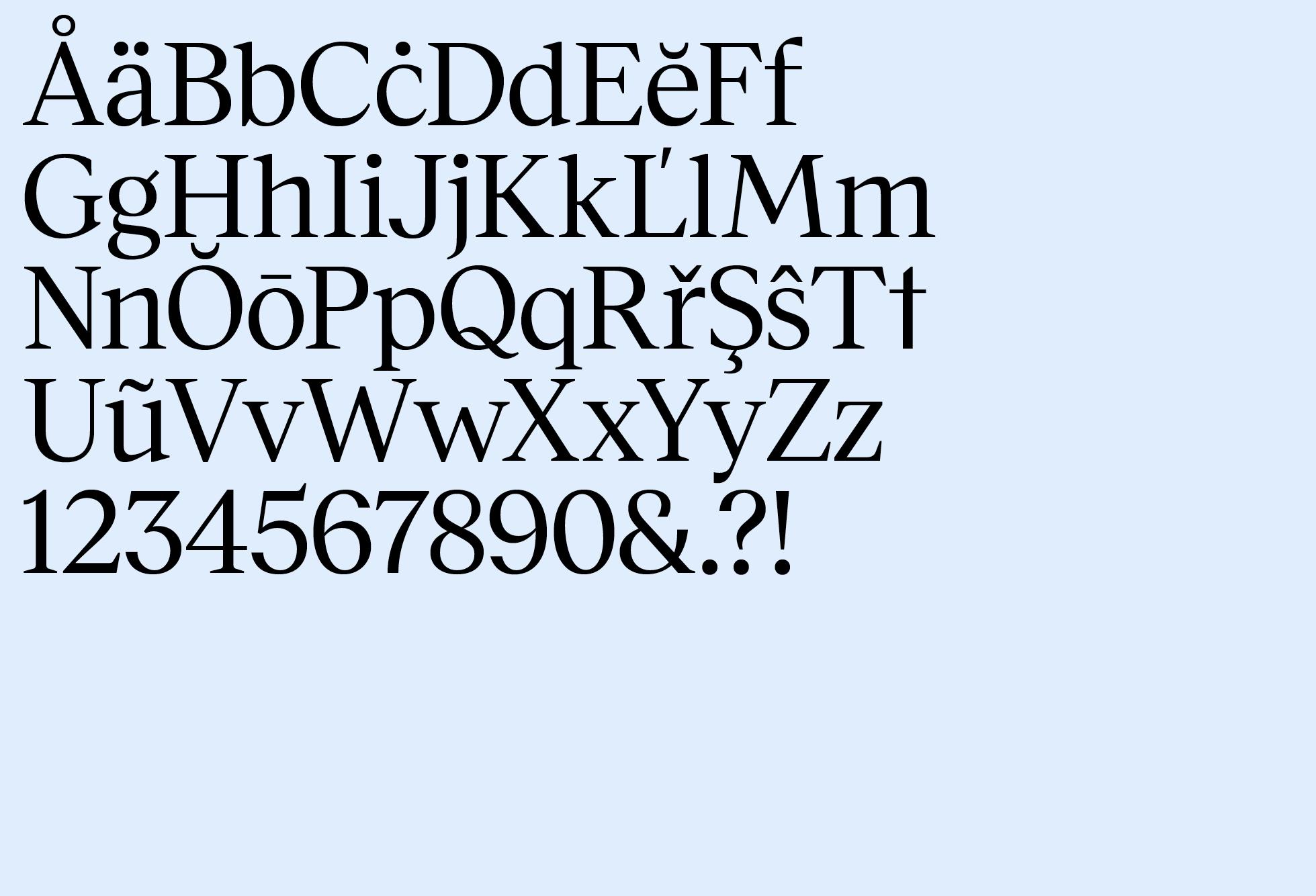Museet Serif Regular (Basic Latin)